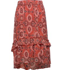 cartrust maxi skirt lång kjol röd only carmakoma