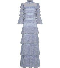 carmine maxi dress maxi dress galajurk blauw by malina