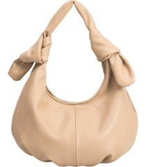 melie bianco emma medium vegan leather hobo shoulder bag
