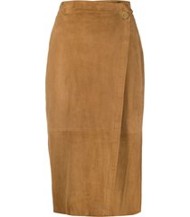 forte forte slim-fit pencil skirt - neutrals