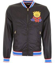 dolce & gabbana super pig bomber jacket