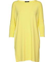 t-shirt korte jurk geel ilse jacobsen
