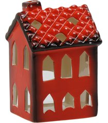 porta vela kasa ideia de cerâmica casinha 10x7x8cm