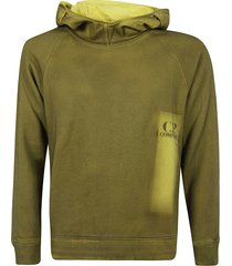 c.p. company attached goggles hoodie
