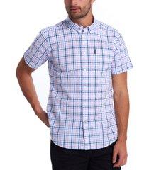 barbour men's gingham check seersucker shirt