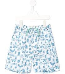 velveteen luca bug print shorts - white