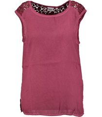 object polyester top met kant