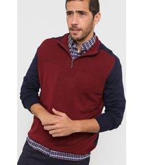 sweater bordó new astor combinado