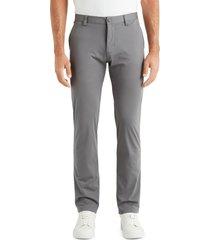 men's rhone commuter straight fit pants, size 32 - grey