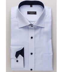 eterna heren overhemd hemels oxford contrast classic kent comfort fit