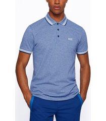 boss men's cotton-pique polo shirt