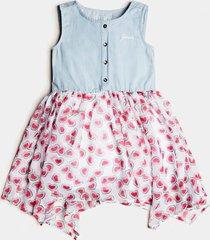 batystowa sukienka z szyfonowymi wstawkami