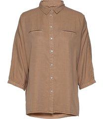 shirt overhemd met lange mouwen bruin sofie schnoor