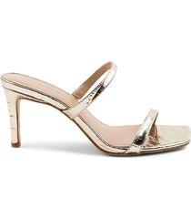 bcbgeneration women's salin slide dress sandals - gold - size 6