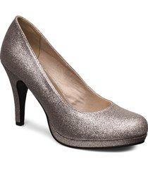 woms court shoe shoes heels pumps classic guld tamaris