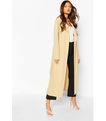 belted collared jacket, stone