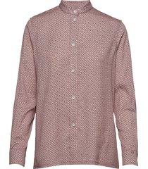 ls ck monogram shirt overhemd met lange mouwen roze calvin klein
