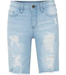 bermuda di jeans skinny sdruciti (blu) - rainbow