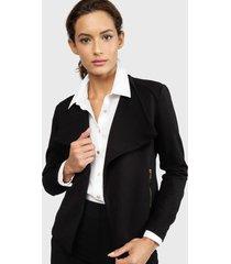 chaqueta calvin klein textured knit jacket negro - calce regular