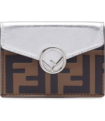 fendi micro f is fendi trifold wallet - silver