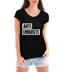 camiseta criativa urbana anti embuste feminina