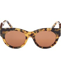 tod's women's 52mm oval sunglasses - havana