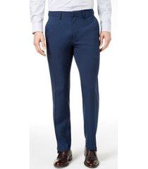kenneth cole reaction men's slim-fit micro-check dress pants