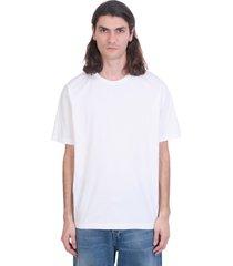 acne studios evert t-shirt in white cotton