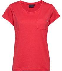 ashley jersey tee t-shirts & tops short-sleeved röd lexington clothing
