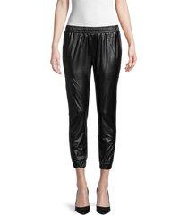 david lerner women's sleek track pants - black - size l