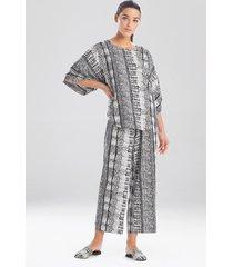 natori panther pullover pajamas, women's, size l sleep & loungewear