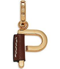 p letter goldtone charm pendant