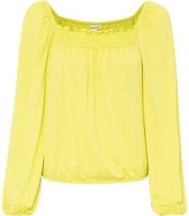 maglia con lavorazione smock (giallo) - bodyflirt