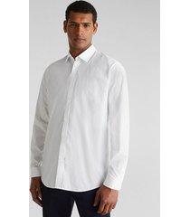 camisa slim unicolor con coolmax blanco esprit