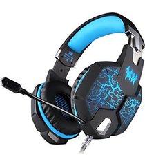 audífono diadema gamer g1100 luces led vibración