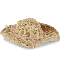 continental sequined straw cowboy hat