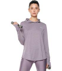 buzo lila under armour ua streaker 2.0 long sleeve hoodie