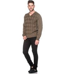 suéter passion tricot lk losango brown