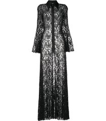 floral lace sheer maxi dress