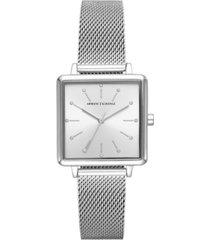 ax armani exchange women's lola stainless steel mesh bracelet watch 30mm