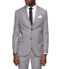 men's topman skinny fit suit jacket, size 46 r - grey