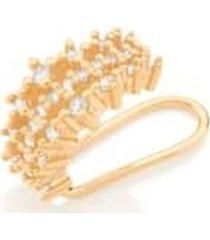 brinco bijoulux piercing de pressão semi jóia