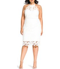 plus size women's city chic victorian lace cocktail dress