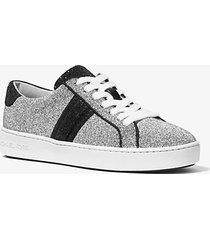 mk sneaker irving in tela decorata con cristalli swarovski® - argento (argento) - michael kors