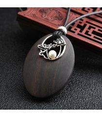 collana di perle etniche vintage in lega di perline d'epoca per la collana di maglioni da donna