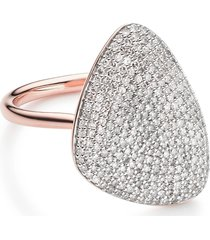 monica vinader nura diamond teardrop ring, size 6.5 in rose gold/diamond at nordstrom