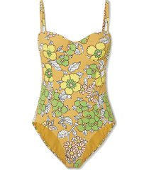 floral-print underwired swimsuit