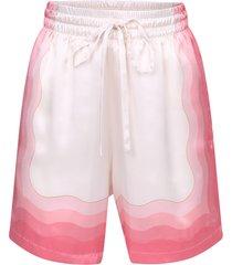 casablanca printed bermuda shorts