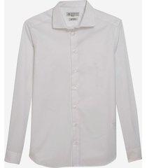 camisa dudalina manga longa fio tinto maquinetado masculina (branco, 48)