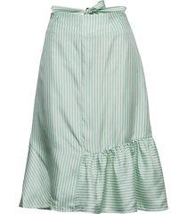 beate short knälång kjol blå fall winter spring summer